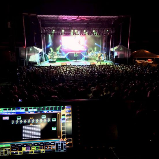 Outdoor Concert Sound and Lighting