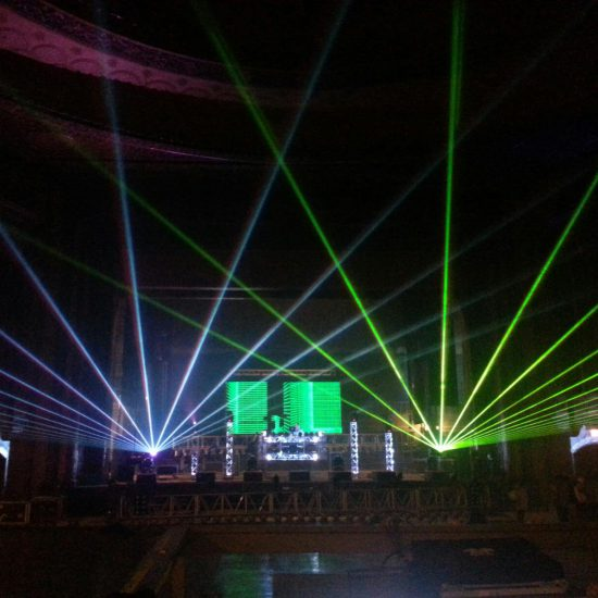 Lasers for Concerts